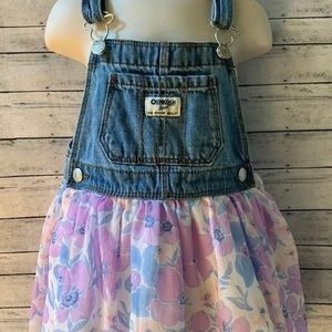 Osh Kosh Girl Size 3T Jean FLORAL Dress